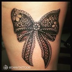 bow tattoos on back of thighs - Google Search