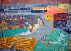 Pierre Bonnard - Braunkohlengrube (Brown coal mine) at Neue Pinakothek Munich Germany, via Flickr.