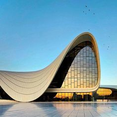 They wanted to have something unique, something which is looking at the future, somehow showing their soft, romantic side but at the same time their optimistic side, Saffet Kaya Bekiroglu of Zaha Hadid architects says of the Heydar Aliyev Center.