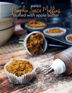 Pumpkin Spice Muffins filled with Apple Butter (Paleo) — Foraged Dish