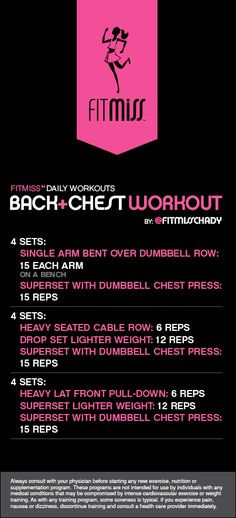 FitMiss Back + Chest Workout
