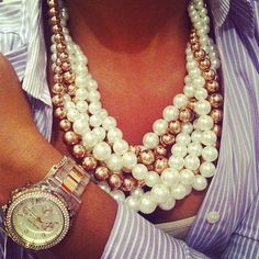 always love layered beads, making my own style and love this watch...
