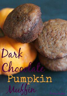 Gluten-Free and Refined-Sugar Free, Dark Chocolate Pumpkin Muffins