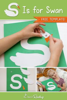 S Is for Swan ABC Craft Learn all about the lowercase letter S with this adorable alphabet craft! Letter S Activities, Preschool Letter Crafts, Alphabet Letter Crafts, Abc Crafts, Toddler Crafts, Preschool Activities, Reptiles Preschool, Letter Games, Letter Tracing