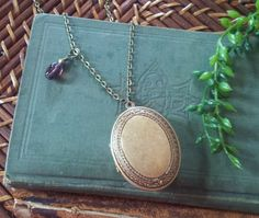 Refillable Solid Perfume Locket by BeesNTeas on Etsy, $30.00