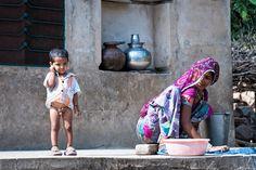 Vita reale di un poverissimo villaggio del Rajasthan in India India, Goa India, Indie, Indian