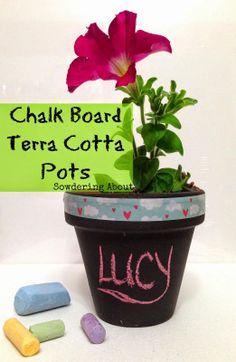 Chalkboard Terra Cotta Pots