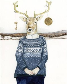 #sweet #picture #christmas #winter #sweater #deer