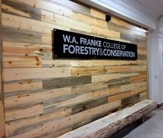 New accent wall at the University of Montana College of Forestry & Conservation. Only fitting its salvaged Beetle Kill Pine! Shown here in our Skiplap pattern.