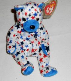 TY 10 Years Beanie Baby BLUE the Bear Date of Birth January 7 429433e9b838