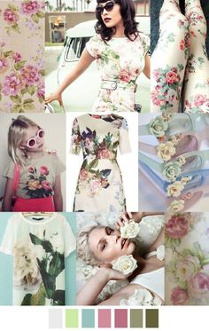 TREND #Summer2016 #70'sROSES Sources@patterncurator ROSE BOWL - moodboard inspiration for summer 2016 fashion collection.