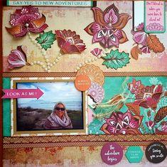Terancha Adams Scrapbook Layouts, Scrapbooking, New Adventures, Antiquities, Breathe, Arts And Crafts, Sunset, Paper, Frame