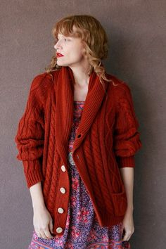 Knitting Pattern Christmas Cardigan : 1000+ images about Christmas oversized cable knit cardigans on Pinterest Ca...
