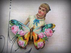 In The Garden Butterfly Brooch by AlaArt on Etsy