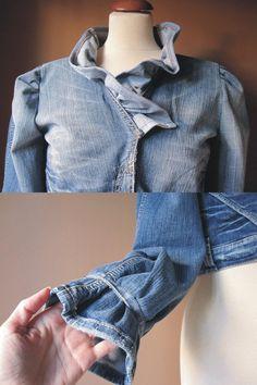 Your Ruffle Denim Jacket par TheButterfliesShop sur Etsy