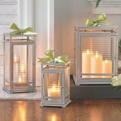 It's a great time of year to bring out your lanterns. So easy to use and they make a powerful statement - just add your candles and DIY decor at the top.