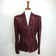 Black Sequined Long Sleeve Jacket  UK Size  8,10.