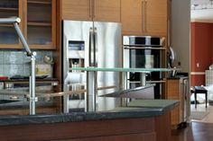 Cast glass bar by Studio L. Glassworks