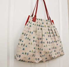 For Pleat's Sake Tote tutorial by U-Handbag #diy #sew