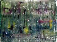 In the dark, Bernadeta Sudnikowicz, Akwarela Papier 300g, 30 x 40 cm, 2014