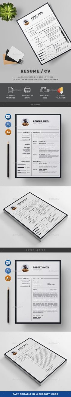 #Resume - #Resumes Stationery Download here: https://graphicriver.net/item/resume/20262678?ref=alena994
