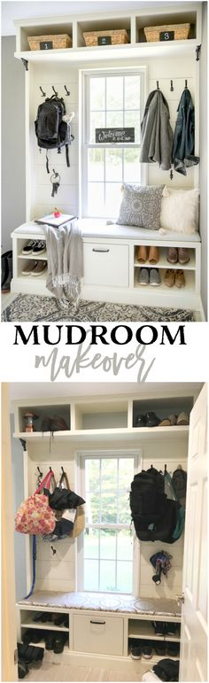 Mudroom Makeover: From Messy to Magnificent #ad