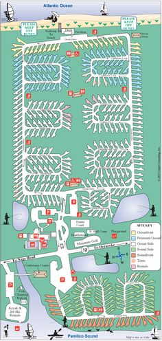 Camp Hatteras Site Map