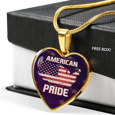 American Pride Necklace - American Flag Necklace - Memorial Military J – ShineOn Working Mother, Working Moms, American Pride, American Flag, Military Jewelry, Graduation Necklace, Glass Coating, Free Boxes, Custom Engraving