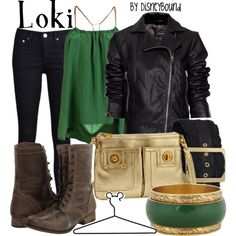Loki by disneybound - some awesome disney inspired outfits Marvel Inspired Outfits, Character Inspired Outfits, Disneybound Outfits, Disney Outfits, Marvel Mode, Marvel Comics, Cosplay Informal, Moda Disney, Mode Geek