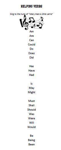 helping verbs worksheet