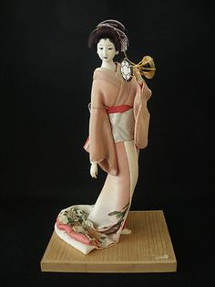 Vintage Japanese GEISHA Doll ■ with Traditioanl percussion