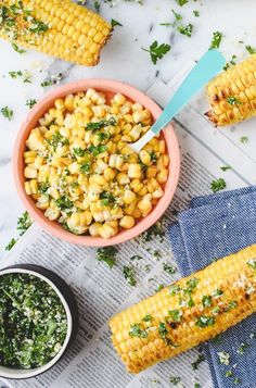 Grilled Lemon and Herb Corn on the Cob Recipe