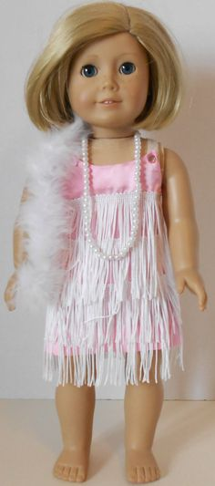 Pink Flapper Outfit Fits American Girl Doll