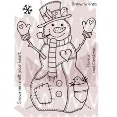 Patch Snowman by Woodware ~ Crafters' Palette
