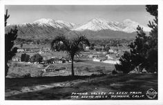 Pomona Valley as seen from the South Hills, Pomona, Calif.