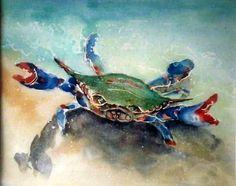Awesome watercolor crab!