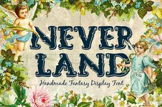 Neverland Fantasy Handlettered Font by TSVCreative on Etsy