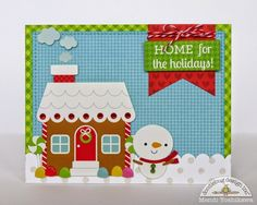 Snippets By Mendi: A Doodlebug Santa Express Home For The Holidays Christmas Card.