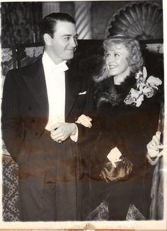 Lew Ayres and Ginger Rogers married divorced March 1941 Hollywood Icons, Golden Age Of Hollywood, Hollywood Glamour, Classic Hollywood, Old Hollywood, Lew Ayres, Gorgeous Movie, A Fine Romance, Fred And Ginger