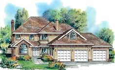 Plan No.136019 House Plans by WestHomePlanners.com