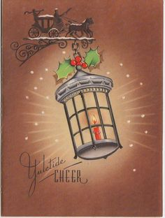 Yuletide Cheer-1940s... Old Time Christmas, Christmas Card Images, Christmas Candle, Christmas Past, Vintage Christmas Ornaments, Christmas Greeting Cards, Christmas Pictures, Christmas Greetings, Holiday Cards