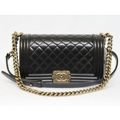 Chanel Black Quilted Calfskin Small le Boy Bag $5,198.00