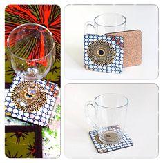 WaxinDeco / dessous de verre /homedeco / décoration de table / sous verre inspiration motifs de wax / décoration d'intérieur