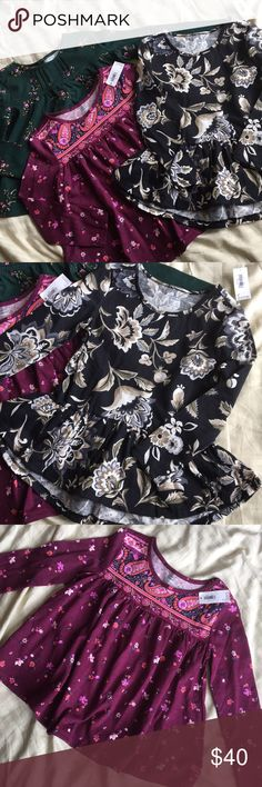 NWT Old Navy Floral Boho Tops All brand new with tags! Size 4T. Old Navy Shirts & Tops Tees - Long Sleeve
