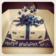 Elegant Picture of Birthday Cakes For Men . Birthday Cakes For Men Birthday Cake Square Birthday Cake, 40th Birthday Cakes For Men, 40th Cake, 40 Birthday, Fruit Birthday, Birthday Cake Pinterest, Pinterest Cake, Torta Angel, Birthday Cake Decorating