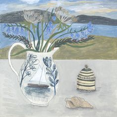 Debbie George.  Ravilious jug and wild flowers. www.debbiegeorge.co.uk