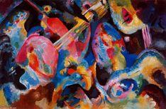 'La improvisación de inundaciones', dibujo de Kandinsky (1866-1944, Russia)