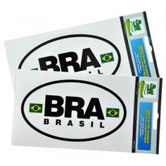 SOUVENIR DO BRASIL - Adesivo em Vynil PVC - BRA  OBS: Embalagem com 1 adesivo cada.  Descrição: Adesivo em PVC de alta qualidade anti-UV e à prova d'água Tamanho: 7,4cm x 12,4 cm Embalagem: Plástica.