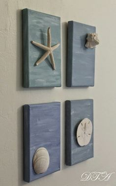 painted canvasses with shells                                                                                                                                                                                 More