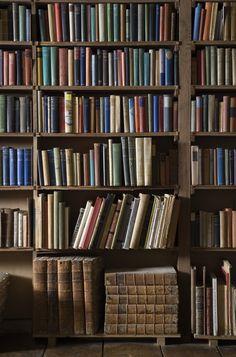 Fascinating shelves of 'ordinary' books at Sissinghurst Castle, Kent. ©NTPL/John Hammond